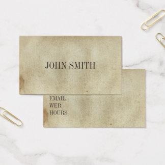 空白のなヴィンテージは汚された古代紙を老化させました 名刺