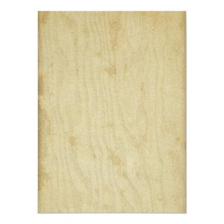 空白のなヴィンテージは紙によって汚された木の刺激を受けた老化させました 14 X 19.1 インビテーションカード