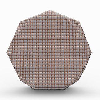 空白のな水晶質DIYのテンプレートは文字の写真を加えます 表彰盾