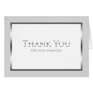 空白のな葬式はメッセージカード-クラシックな銀感謝していしています カード