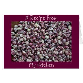 空白のな豆のレシピのメッセージカード カード