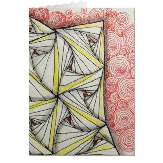 空白のな5x7光沢のある挨拶状-元の芸術 カード