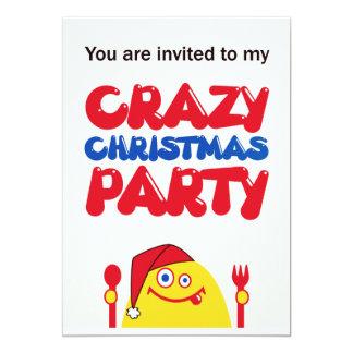 空腹で黄色い創造物のクリスマス カード