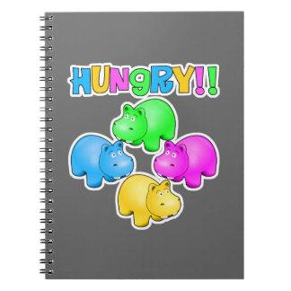 空腹なカバのデザイン ノートブック