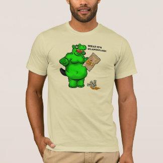 空腹なカバ Tシャツ
