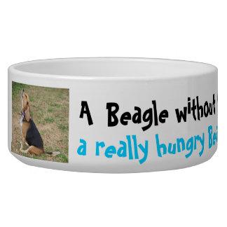 空腹なビーグル犬ボール