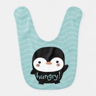 空腹なベビーのペンギン ベビービブ