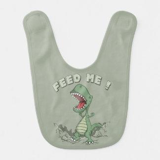 空腹な恐竜のベビー用ビブ ベビービブ