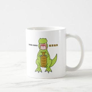 空腹なTレックス コーヒーマグカップ