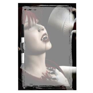 空腹の吸血鬼のゴシックのピンナップの芸術 ホワイトボード