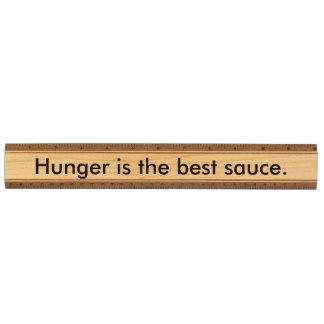 空腹は最も最高のなソースです カエデ 定規