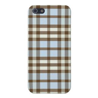 空色かチョコレート格子縞Pern iPhone 5 ケース