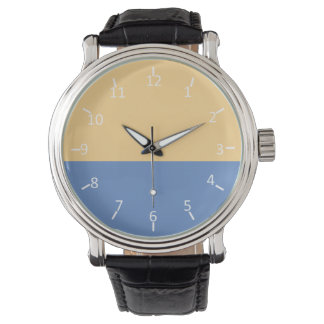 空色のもみ革 腕時計