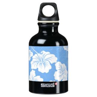 空色のスタイリッシュな、流行の白い花柄 ウォーターボトル