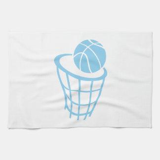 空色のバスケットボール キッチンタオル