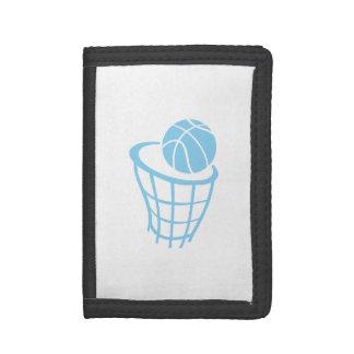 空色のバスケットボール ナイロン三つ折りウォレット
