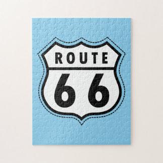 空色のルート66の印 ジグソーパズル
