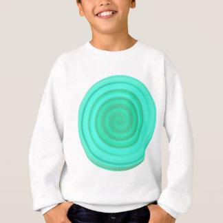空色のレトロキャンデーの渦巻 スウェットシャツ