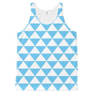 空色の三角形パターン オールオーバープリントタンクトップ