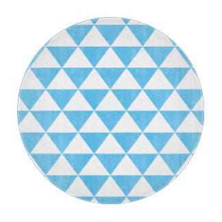 空色の三角形パターン カッティングボード
