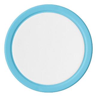 空色の固体端が付いているポーカー用のチップ ポーカーチップ