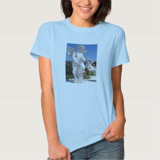 空色の天使の彫像 Tシャツ