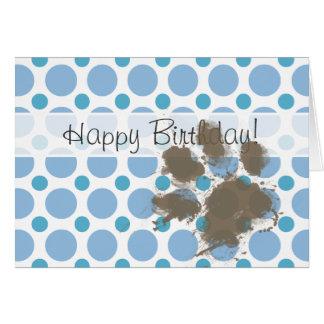 空色の水玉模様; 泥のPawprint カード