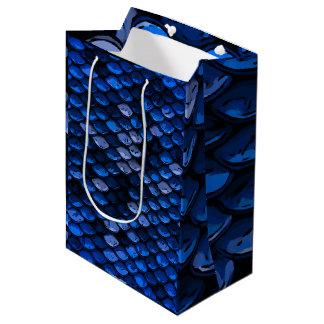 空色の濃紺の抽象的なパターン ミディアムペーパーバッグ