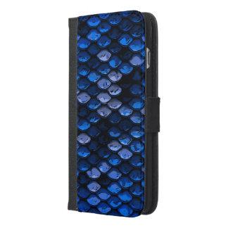 空色の濃紺の抽象的なパターン iPhone 6/6S PLUS ウォレットケース
