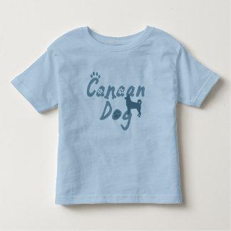 空色のCanaan犬の子供のTシャツ トドラーTシャツ