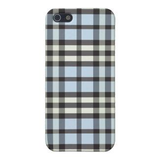 空色または黒の格子縞Pern iPhone 5 Case