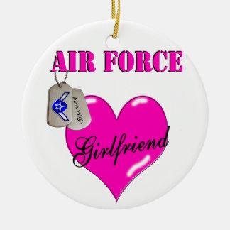 空軍ガールフレンドのオーナメント セラミックオーナメント
