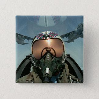 空軍パイロット 5.1CM 正方形バッジ