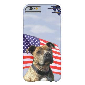 空軍ピットブル犬 iPhone 6 ベアリーゼアケース