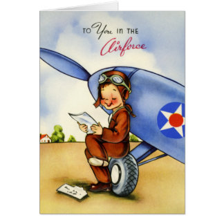 空軍ペンパルのヴィンテージカード カード