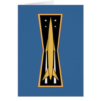 空軍ミサイルのバッジ カード