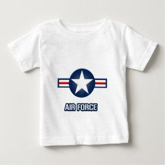 空軍ロゴの乳児のTシャツ ベビーTシャツ