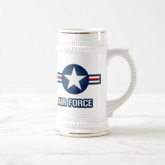 空軍ロゴビールステイン ビールジョッキ