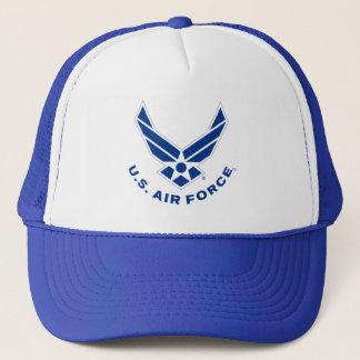 空軍ロゴ-青 キャップ