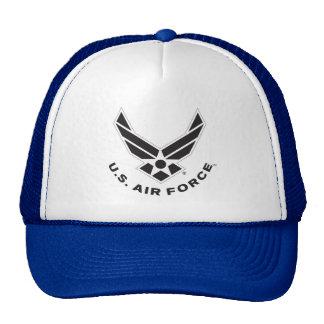 空軍ロゴ-黒 メッシュキャップ