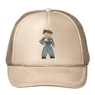 空軍女の子 メッシュ帽子