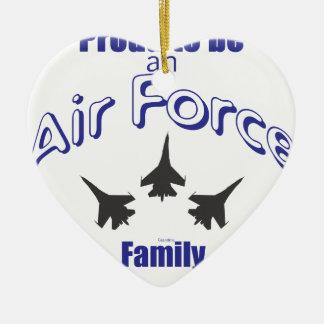 空軍家族があること誇りを持った セラミックオーナメント