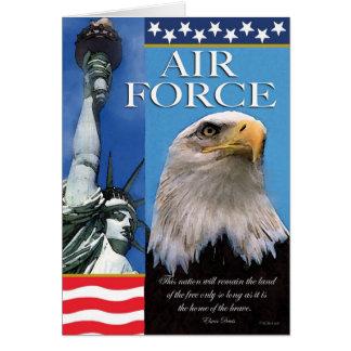 空軍愛国心が強い軍隊サポートカード カード