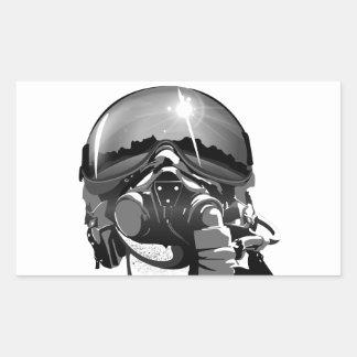 空軍試験ヘルメットおよびマスク 長方形シール