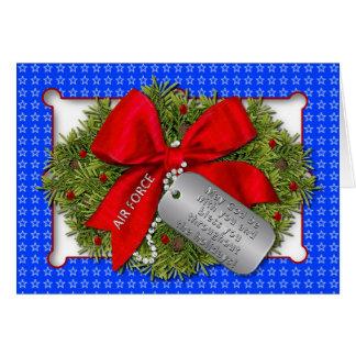 空軍軍の休日-クリスマスのリース カード