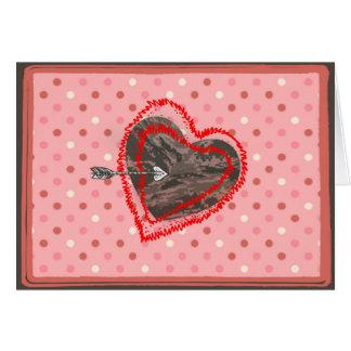 空軍迷彩柄のバレンタインのハートのバレンタインデー カード