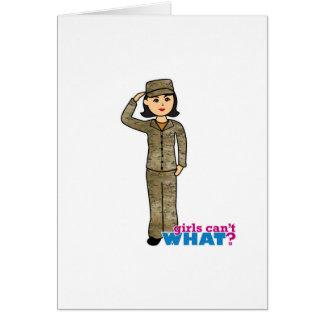 空軍迷彩柄の黒髪 カード