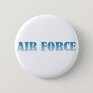 空軍-青い文字 5.7CM 丸型バッジ