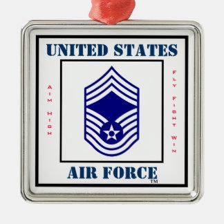 空軍CMSgt - E-9 メタルオーナメント