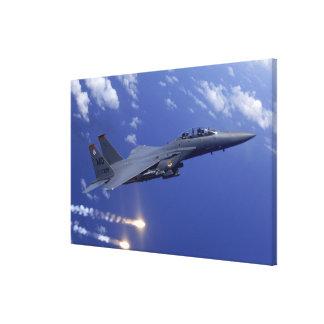 空軍F-15E殴打のワシ キャンバスプリント
